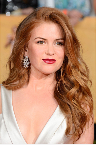 SAG AWARDS Isla Fisher red carpet